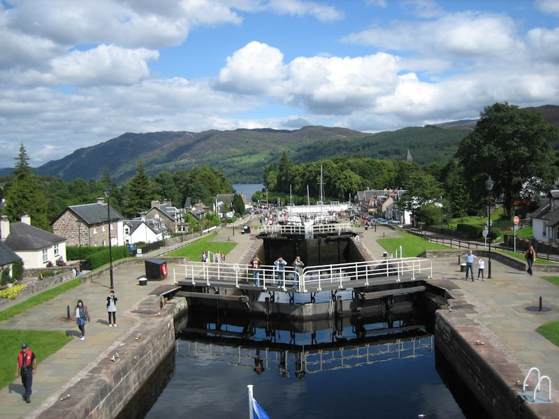 Canal locks at Fort Augustus